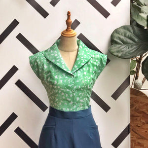Pre-Order: Rockabilly Vintage Shirt in Absinthe Green