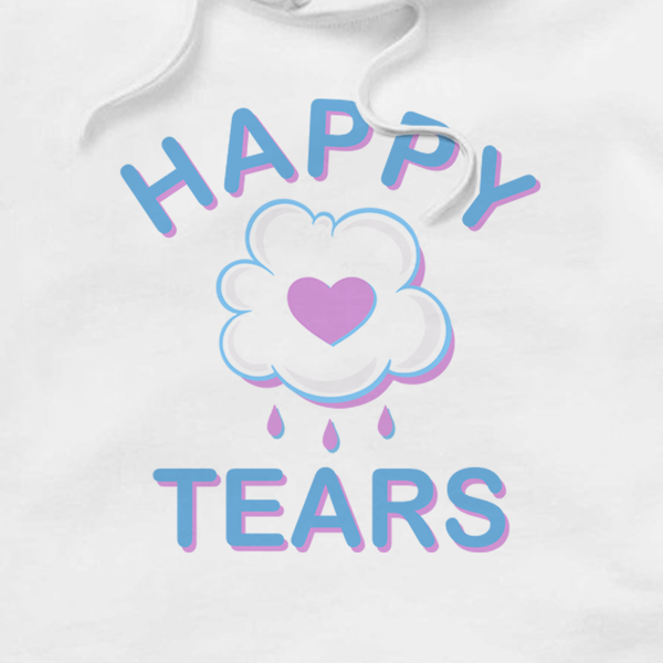 'Happy Tears' Hoodie (White)