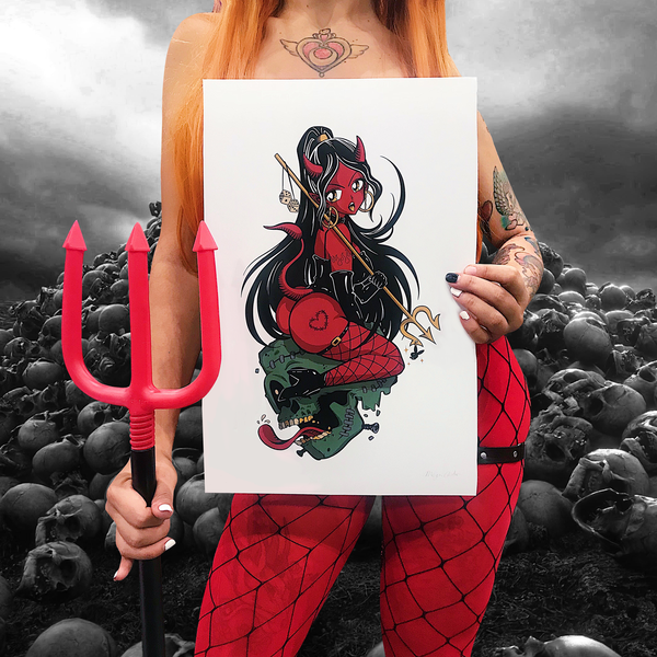 'Devil Babe' Signed Print (11x17)