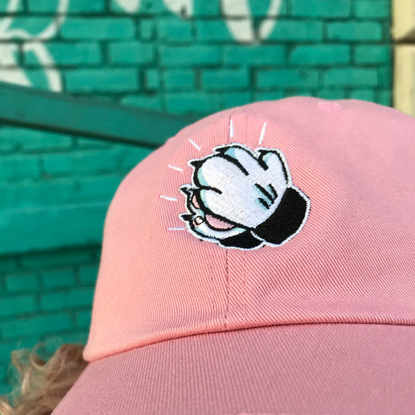 'Praying Paws' Dad Hat (Pink)