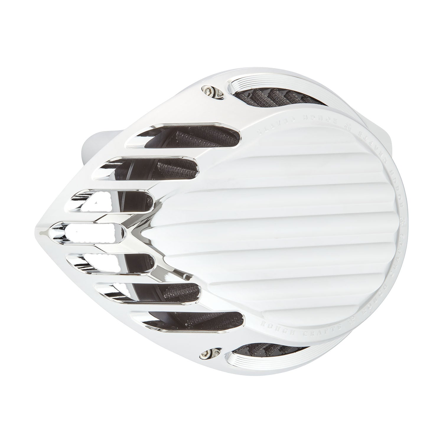 Rough Crafts Finned Air Cleaner, Chrome