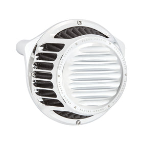 Rough Crafts Round Air Cleaner, Chrome