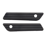 10-Gauge Saddlebag Latch Covers, All Black 14-up FLT