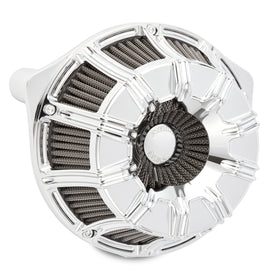10-Gauge Inverted Series Air Cleaner, Chrome