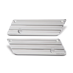 10-Gauge Saddlebag Latch Covers, Chrome 93-13 FLT