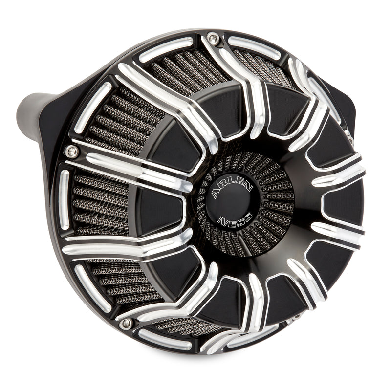 10-Gauge Inverted Series Air Cleaner, Black