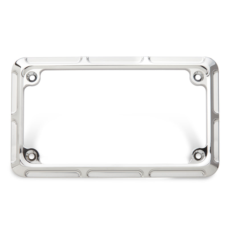 Beveled License Frame, Chrome