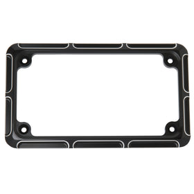 Beveled License Frame, Black