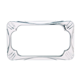 Deep Cut License Frame, Chrome