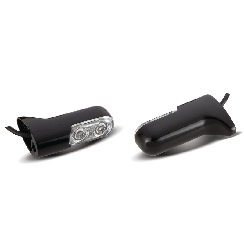 Direct Bolt-On Indicator Lights for XL/FXD/FXST, Black