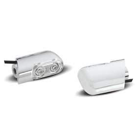 Direct Bolt-On Indicator Lights for FLT Touring, Chrome