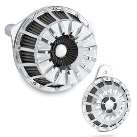15-Spoke Inverted Air Cleaner & Horn Combo, Chrome