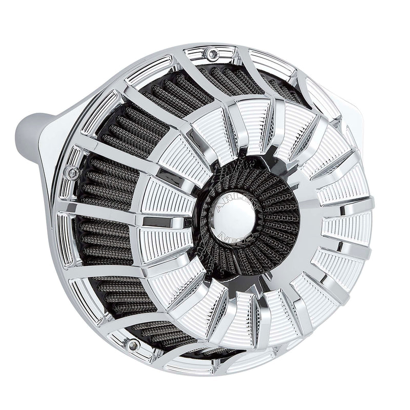 15-Spoke Inverted Series Air Cleaner, Chrome