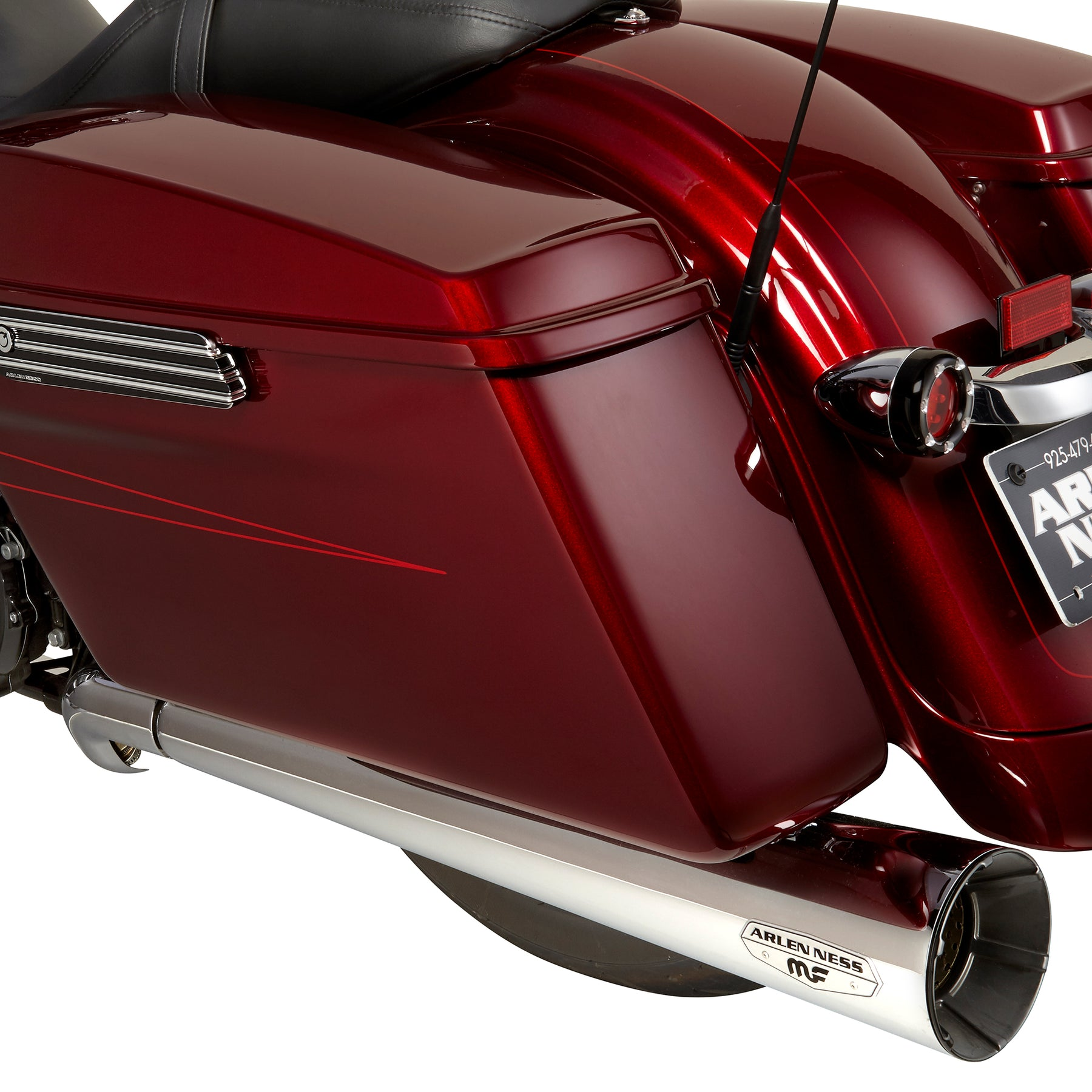 Megacone Slip-On Mufflers, Chrome