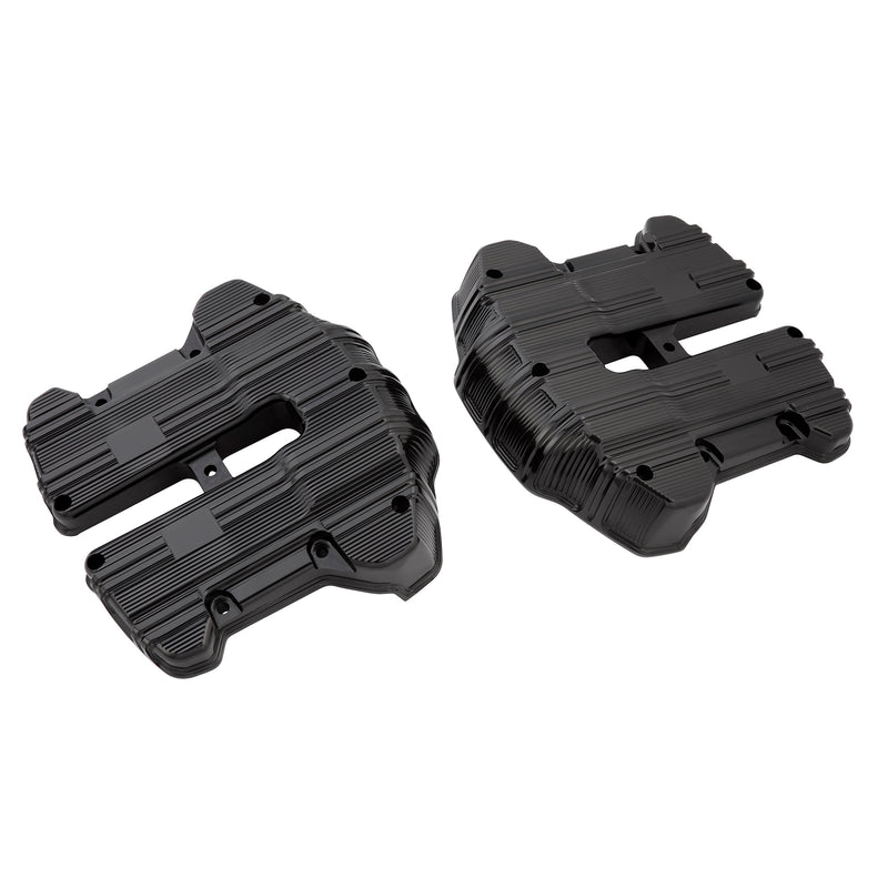 10-Gauge M8 Rocker Box Covers, All Black