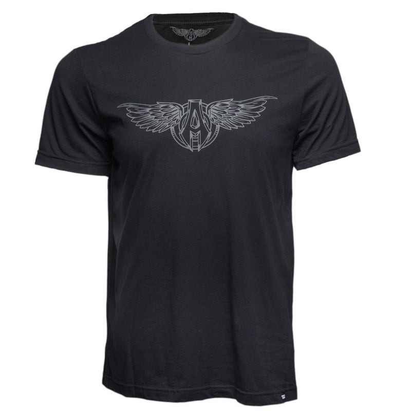 Sporty Wings T-Shirt, Black