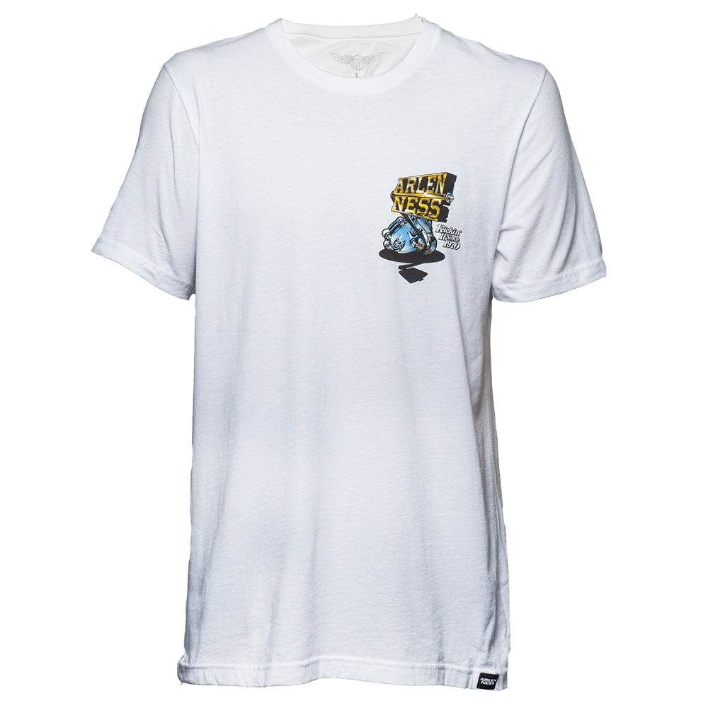 Kicker T-Shirt, White with Color Logo