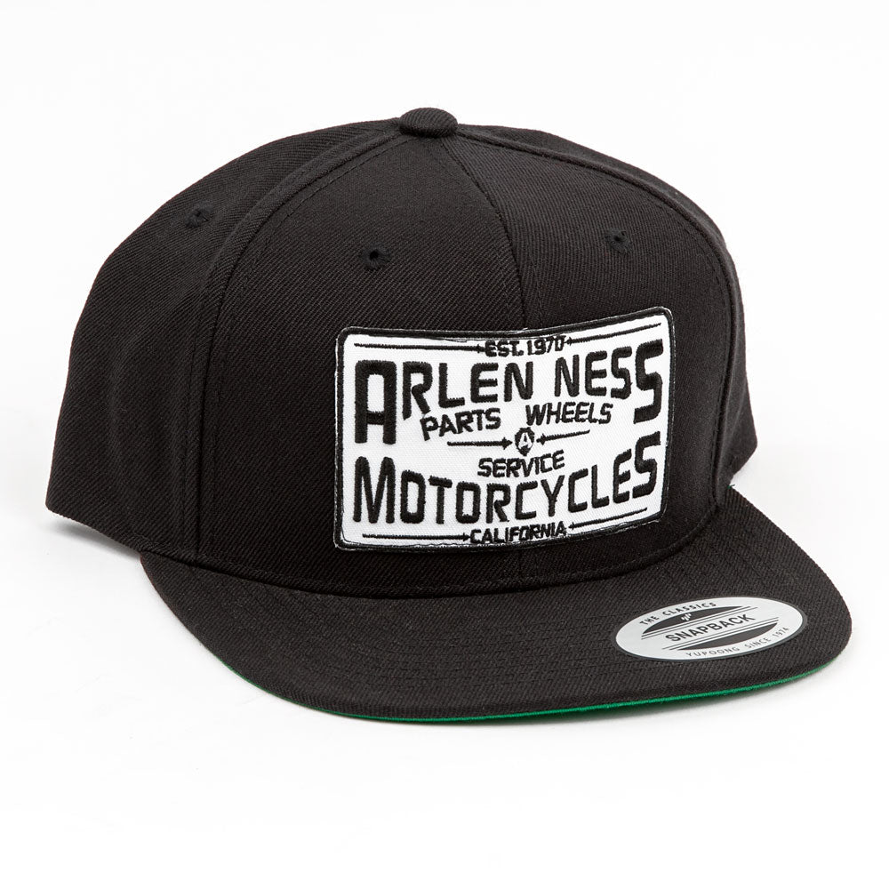 Parts & Service Snapback Hat, Black & White