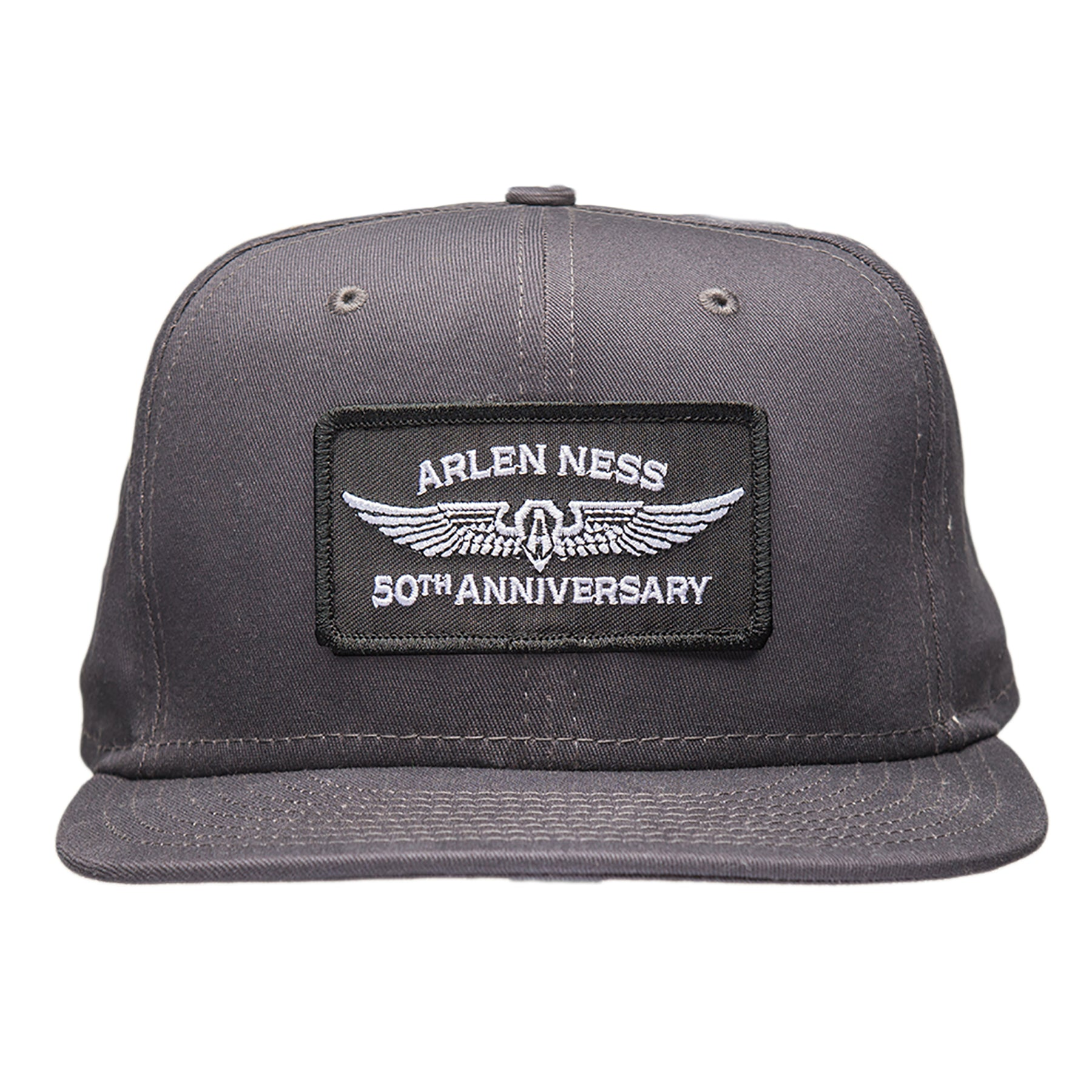 50th Anniversary Snapback Hat, Charcoal