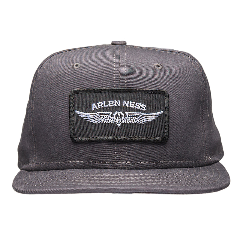 Flying Shield Snapback Hat, Charcoal