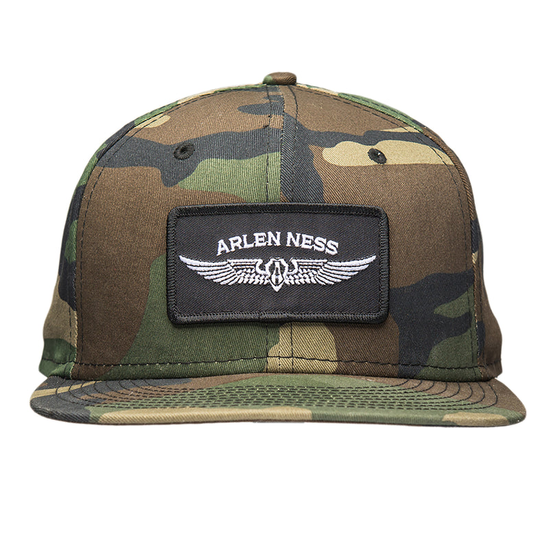 Flying Shield Snapback Hat, Camo