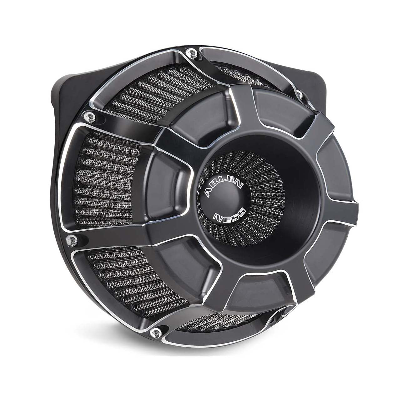 Beveled Inverted Series Air Cleaner, Black