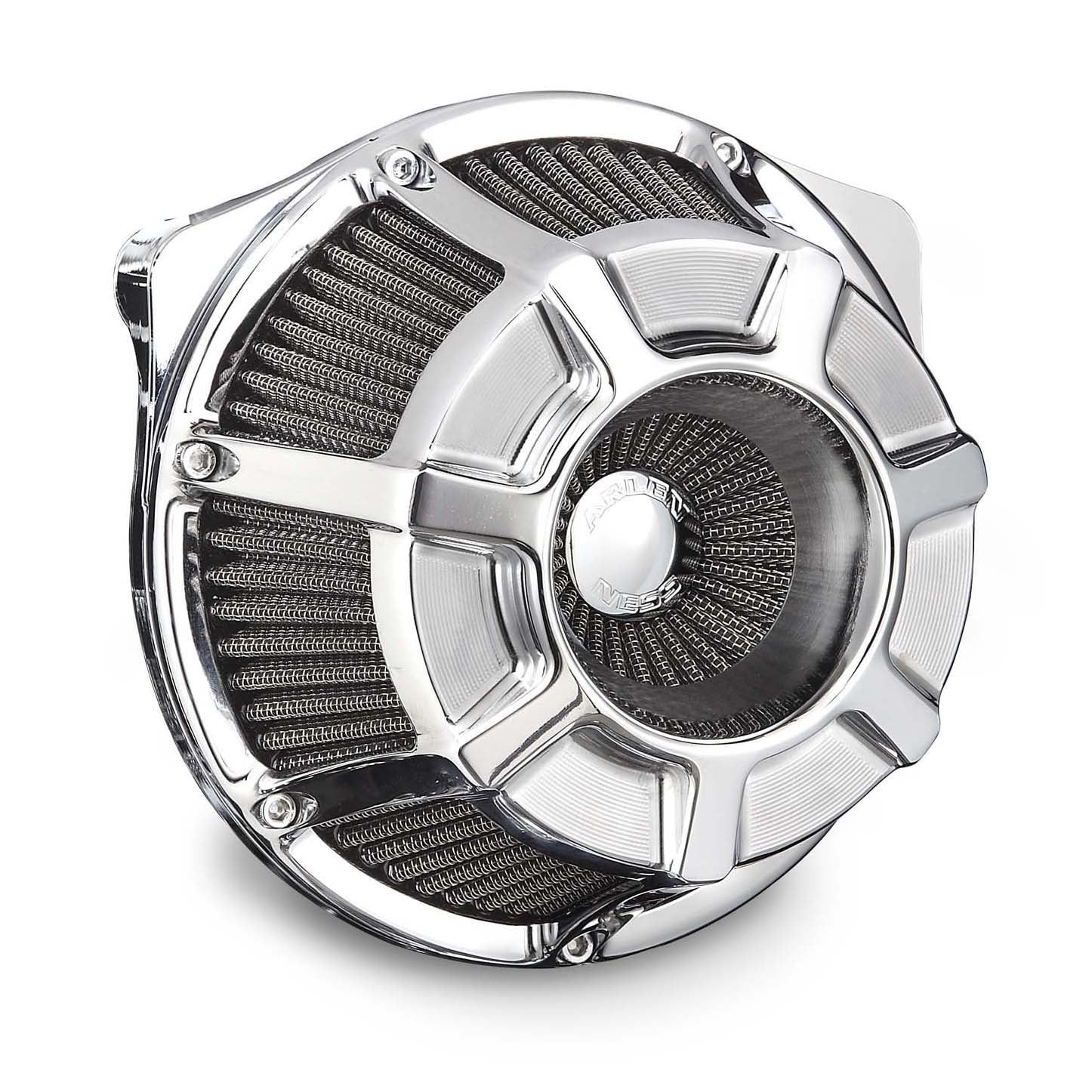 Beveled Inverted Series Air Cleaner, Chrome