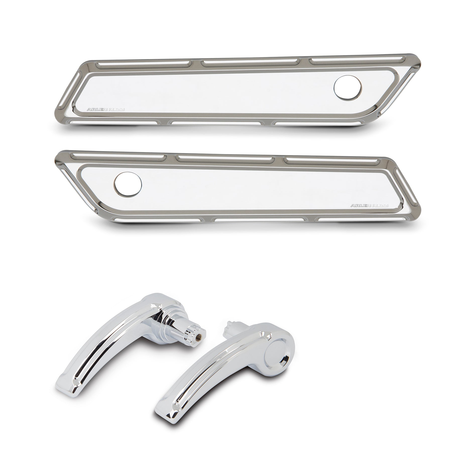 Beveled Saddlebag Latch & Lid Levers, Chrome