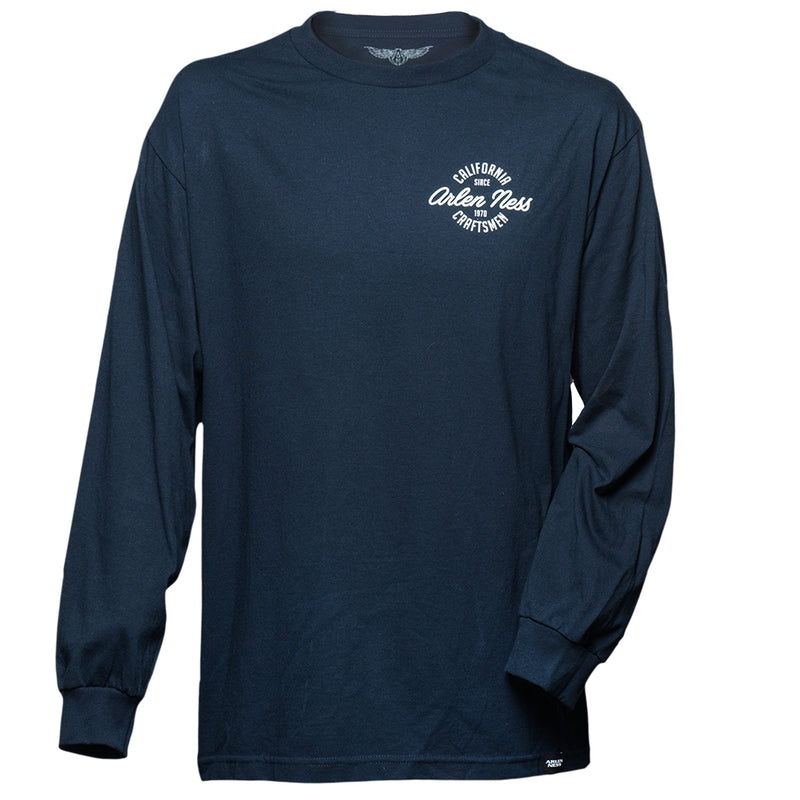 Cali Clean Long Sleeve Shirt, Navy Blue