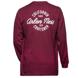 Cali Clean Long Sleeve Shirt, Maroon