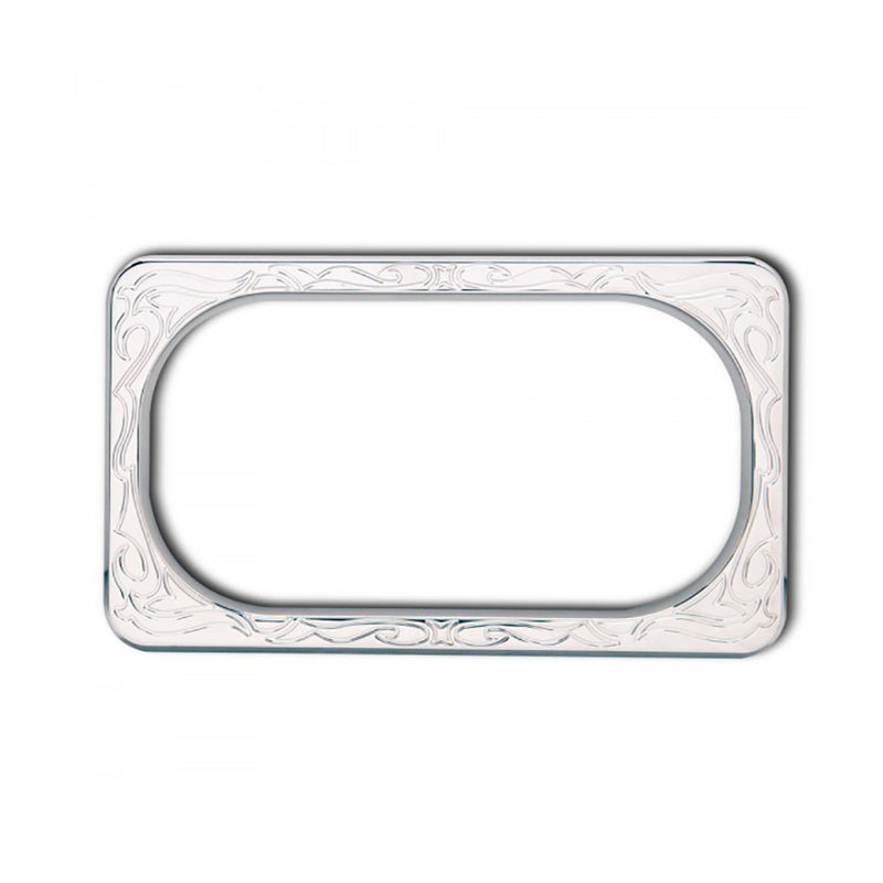Engraved License Frame, Chrome