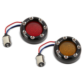 Fire Ring LED Kits for Factory Turn Signals, Black