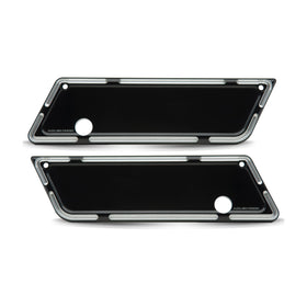 Slot Track Saddlebag Latch Covers, Black 93-13 FLT