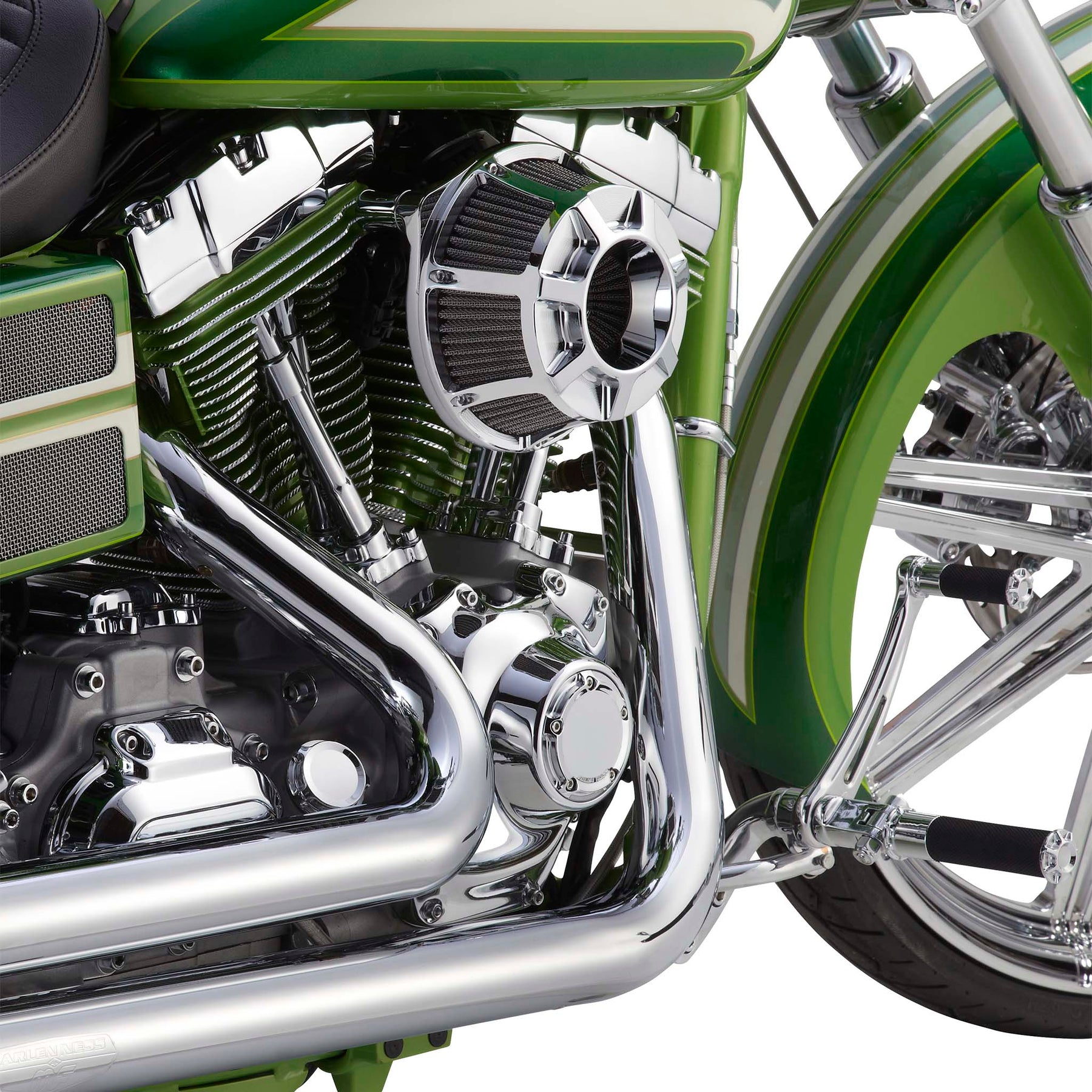 Beveled Footpegs, Chrome