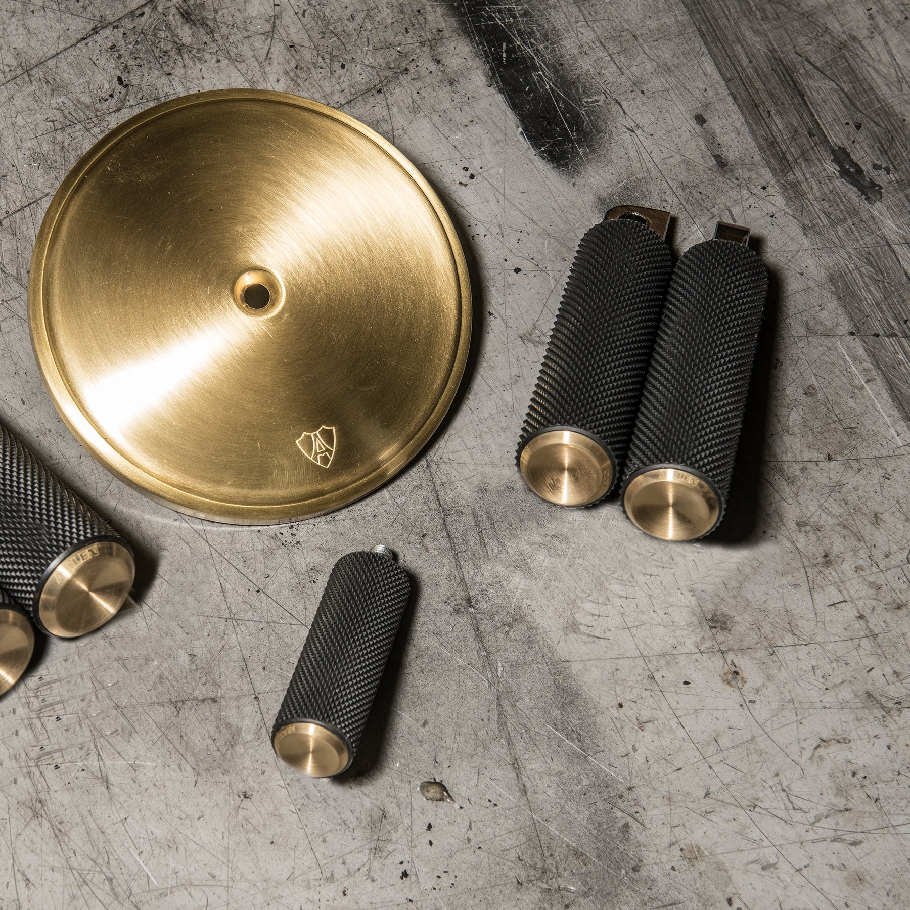 Knurled Footpegs, Brass