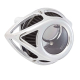 Clear Tear Air Cleaner, Chrome