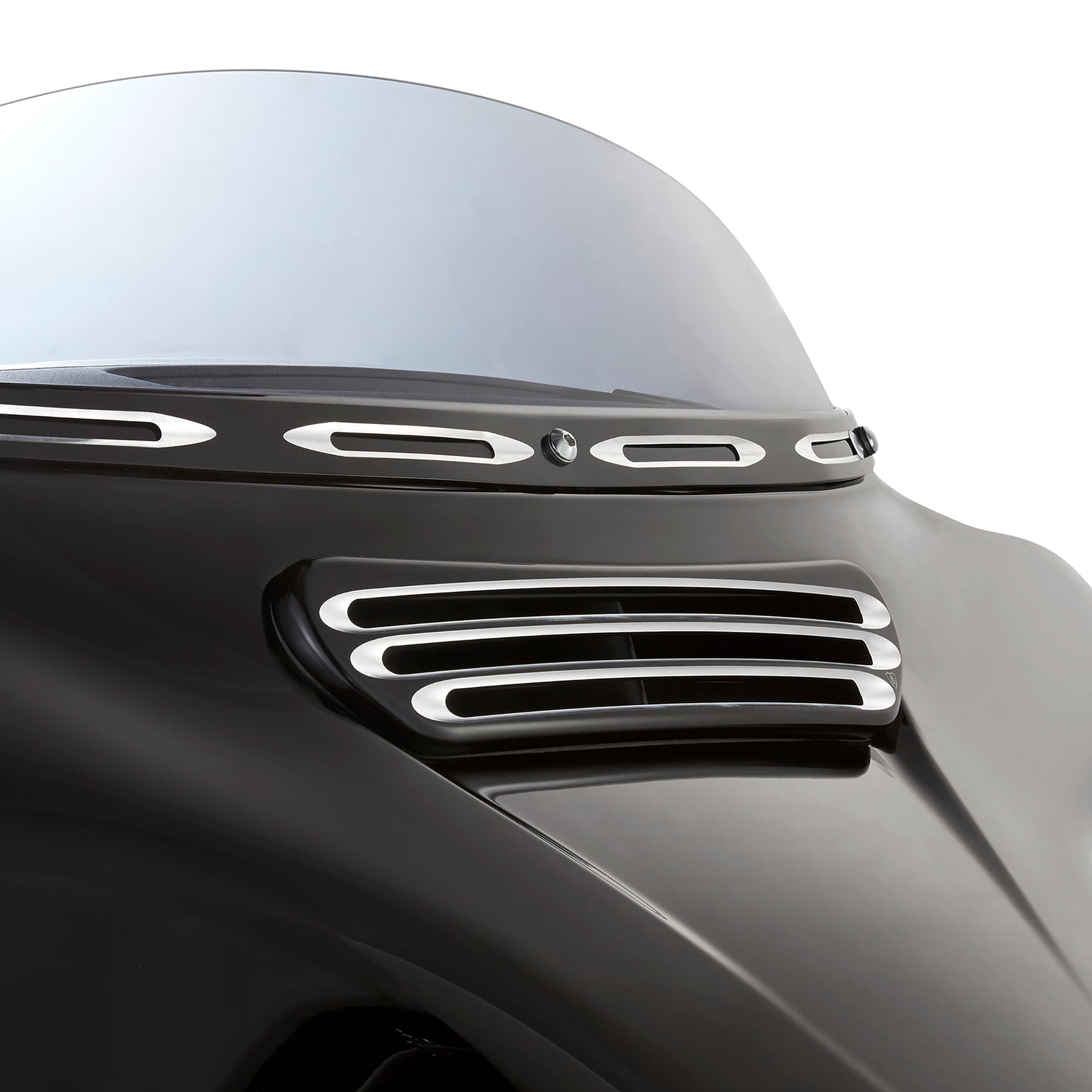 Deep Cut Fairing Vent Trim For Street Glide™, Black