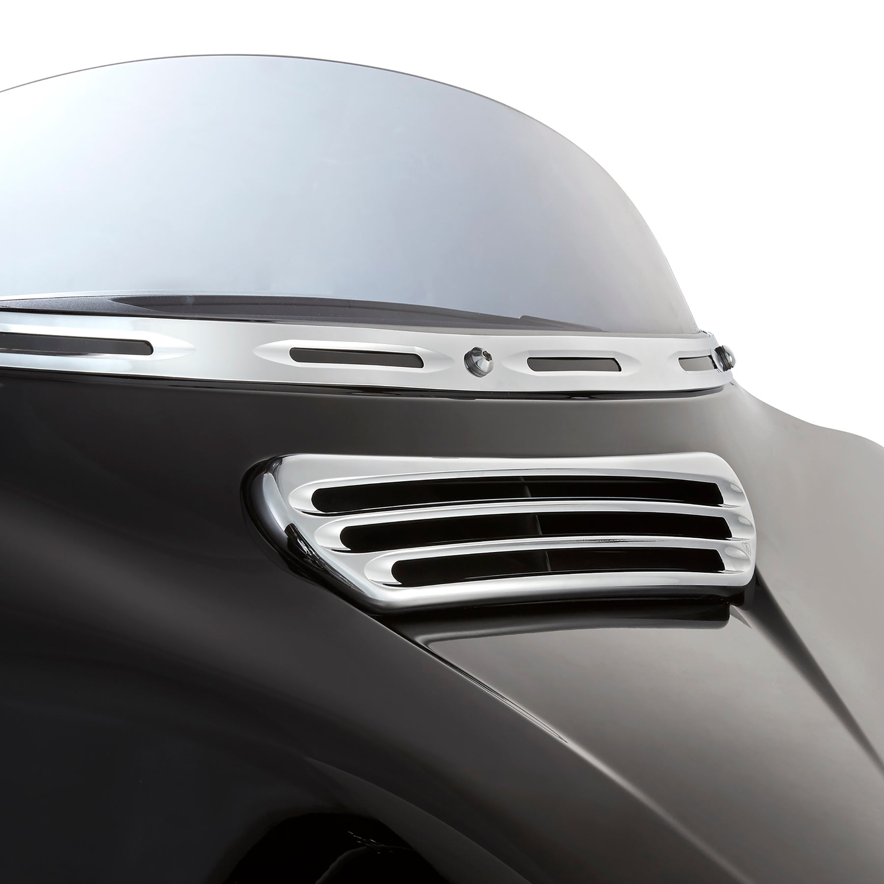 Deep Cut Fairing Vent Trim For Street Glide™, Chrome