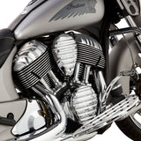 Finned Cam Cover for Thunderstroke® Engines, Chrome