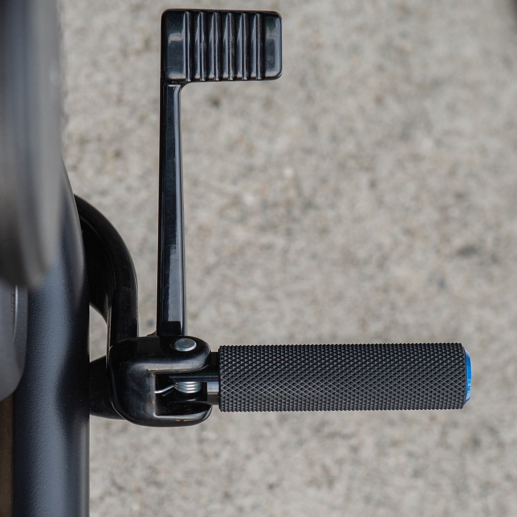 Knurled Footpegs, Blue