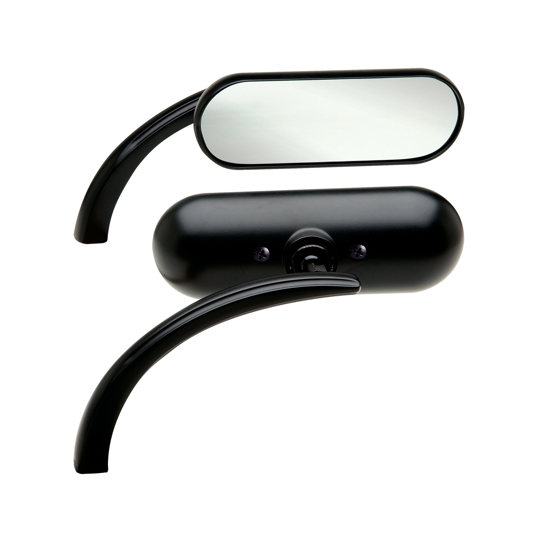 Mini Oval Micro Mirrors, Black