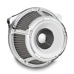 Slot Track Inverted Series Air Cleaner, Chrome