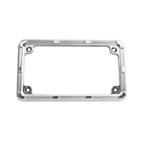 Slot Track License Frame, Chrome