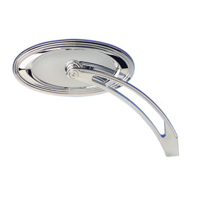 Stepped Oval Mirrors, Chrome