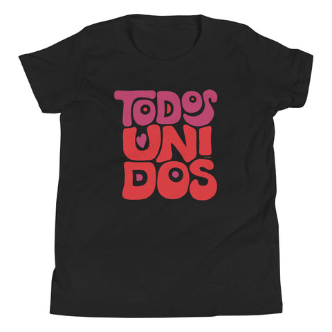 TODOS UNIDOS | YOUTH Short Sleeve T-Shirt - Black and White