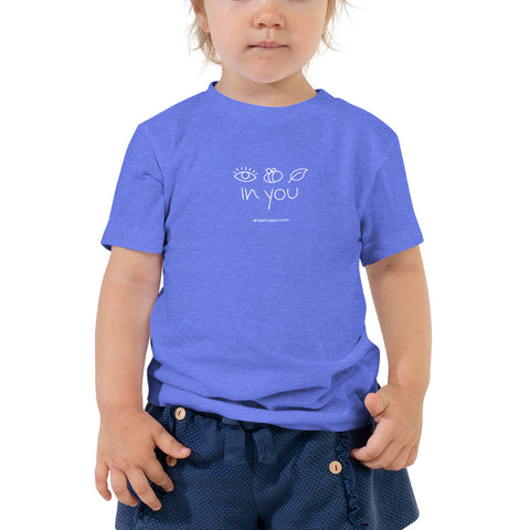 I BELIEVE IN YOU | Toddler Short Sleeve Tee - Columbia Blue and Black