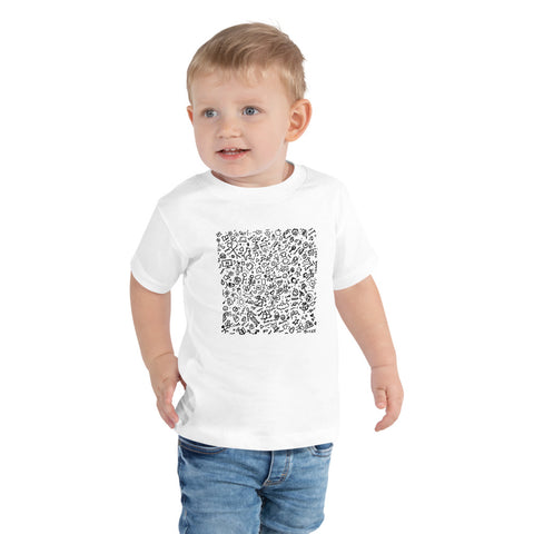 QUARANTINE | Toddler Short Sleeve Tee - Black and White