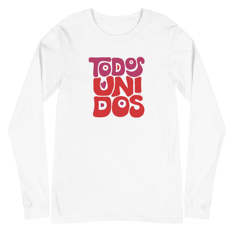 Todos Unidos | Unisex Long Sleeve Tee - Black and White