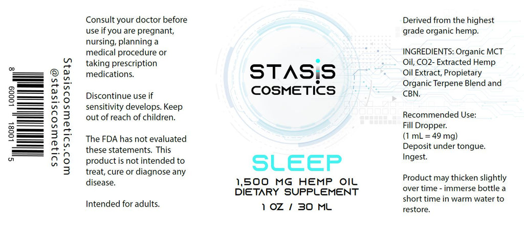 SLEEP DEEP - 1,500 mg CO2-Extracted Hemp Oil Extract Supplement