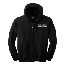 Load image into Gallery viewer, Search & Destroy Black Zip Hoodie